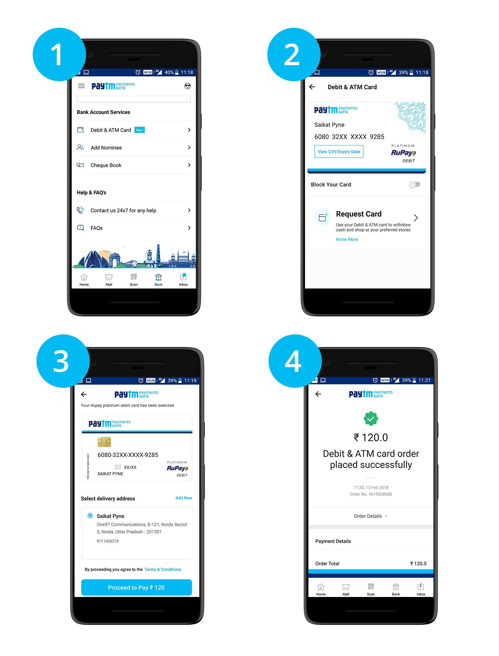 How to apply for Paytm debit card