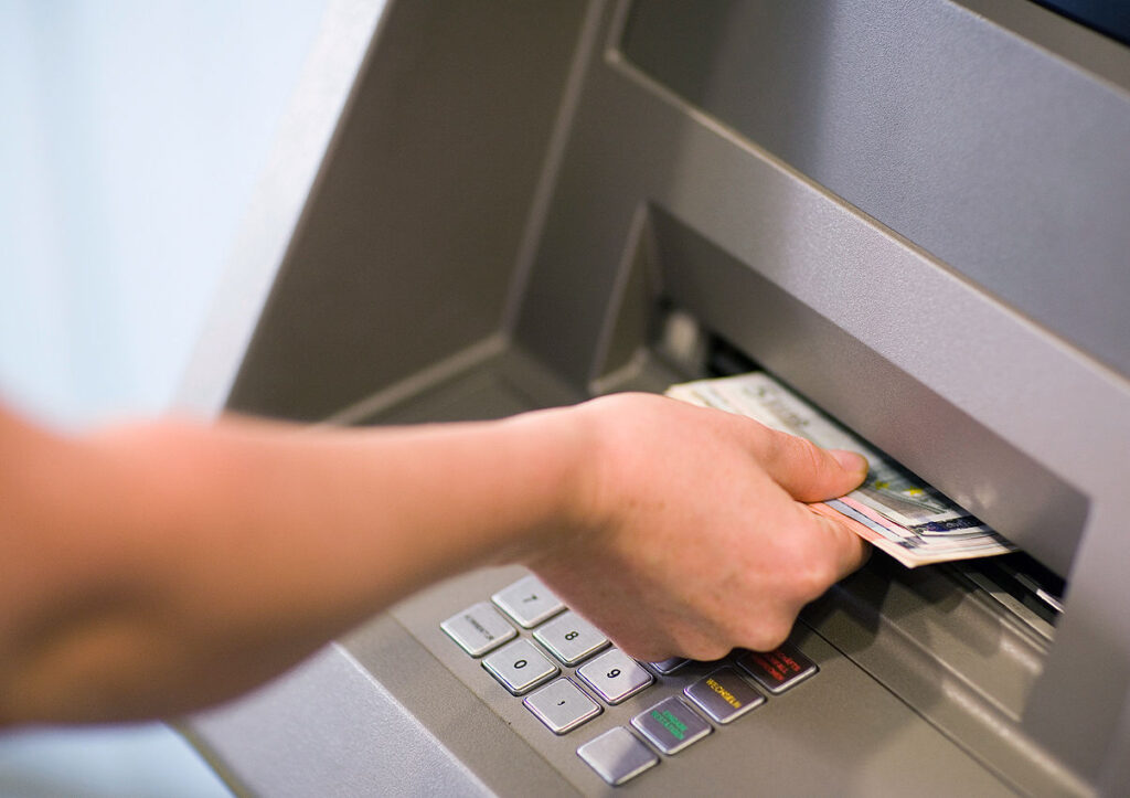 Money Stuck in Cash Deposit Machine